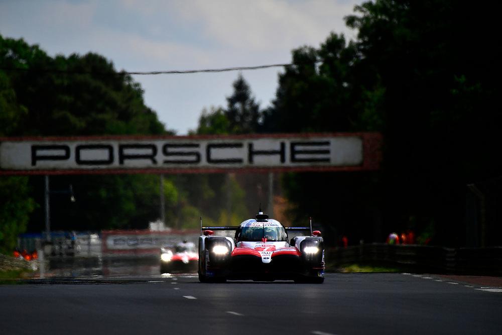 #7 Toyota Gazoo Racing Toyota TS050: Mike Conway, Kamui Kobayashi, Jose Maria Lopez<br /> Wednesday 13 June 2018<br /> 24 Hours of Le Mans<br /> 2018 24 Hours of Le Mans<br /> Circuit de la Sarthe  FR<br /> World Copyright: Scott R LePage