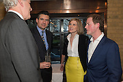 JEREMY KING; ED TAYLOR; ELIZABETH PELLY; GUY PELLY, Spectator Life - 3rd birthday party. Belgraves Hotel, 20 Chesham Place, London, SW1X 8HQ, 31 March 2015