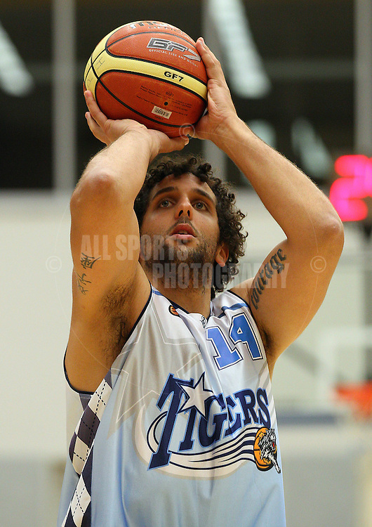 PERTH, AUSTRALIA - JULY 16: Matt Knight of the Tigers shoots a free throw during the week 18 SBL game between the Perry Lakes Hawks and the Willetton TIgers at The State Basketball Center on July 16, 2011 in Perth, Australia.  (Photo by Paul Kane/Allsports Photography)