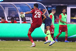 July 25, 2018 - East Rutherford, NJ, U.S. - EAST RUTHERFORD, NJ - JULY 25:  Liverpool forward Dominic Solanke (29) during the second half of the International Champions Cup Soccer game between Liverpool and Manchester City on July 25, 2018 at Met Life Stadium in East Rutherford, NJ.  (Photo by Rich Graessle/Icon Sportswire) (Credit Image: © Rich Graessle/Icon SMI via ZUMA Press)
