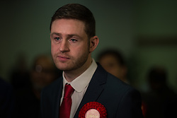 © Licensed to London News Pictures . FILE PICTURE DATED 04/12/2015 . Oldham , UK . Winner JIM MCMAHON at the Oldham West and Royton by-election , at the Queen Elizabeth Hall in Oldham . The by-election was called following the death of MP Michael Meacher . Oldham has been named England's most deprived town by the Office for National Statistics today (18th March 2016) . Photo credit : Joel Goodman/LNP