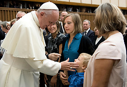 Pope Francis received family members of the victims of the Bastille Day terror attacks in Nice, France, renewing his condolences and promises of prayer for their healing and for the souls of their loved-ones.The pope denounced violence in the name of religion, at the Vatican on September 24, 2016. Photo by ABACAPRESS.COM