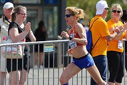 Ruth van der Meijden op de marathon bij het EK atletiek in Berlijn op 12-8-2018