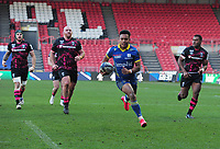 Rugby Union - 2020 / 2021 Heineken Cup - Pool 2 - Bristol Bears vs ASM Clermont Auvergne - Ashton Gate<br /> <br /> Kotaro Matsushima of Clermont Auvergne runs over for his 2nd half try<br /> <br /> COLORSPORT/ANDREW COWIE