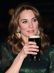The Duke and Duchess of Cambridge attend a reception at the Guinness Storehouse's Gravity Bar, hosted by the British Ambassador to Ireland, on the first day of their 3 day visit to Ireland, in Dublin, Ireland, on the 3rd March 2020. 03 Mar 2020 Pictured: Catherine, Duchess of Cambridge, Kate Middleton. Photo credit: James Whatling / MEGA TheMegaAgency.com +1 888 505 6342