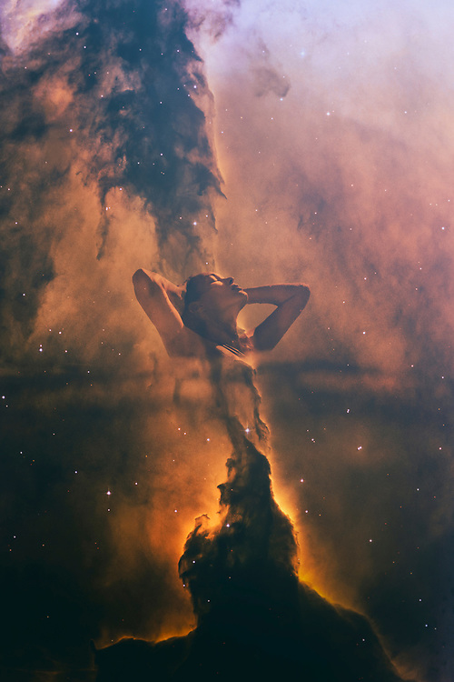 NEBULAR Series featuring Casey. The exploration of the transition from swimming into space and galaxies. ©justinalexanderbartels.com