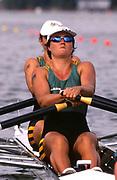 Atlanta, USA.   AUS W2X.  Marina HATZAKIS, Bronwyn ROYE. 1996 Olympic Rowing Regatta Lake Lanier, Georgia [Mandatory Credit Peter Spurrier/ Intersport Images]