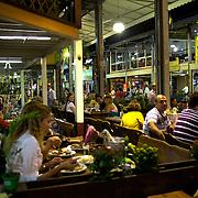 Restaurants and night life at Feira Nordestina, Rio de Janeiro,  Brazil. 17th September 2010. Photo Tim Clayton.