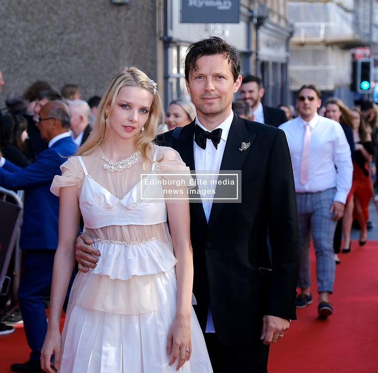 Edinburgh International Film Festival 2019<br /> <br /> Boyz In The Wood (European Premiere)<br /> <br /> Stars and guests arrive on the red carpet<br /> <br /> Pictured: Director Greta Bellamacina and Robert Montgomery<br /> <br /> Alex Todd | Edinburgh Elite media