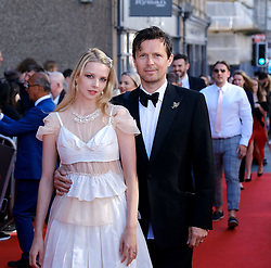 Edinburgh International Film Festival 2019<br /> <br /> Boyz In The Wood (European Premiere)<br /> <br /> Stars and guests arrive on the red carpet<br /> <br /> Pictured: Director Greta Bellamacina and Robert Montgomery<br /> <br /> Alex Todd   Edinburgh Elite media