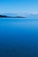 Morning twilight on Luskentyre beach at high tide, Luskentyre, Isle of Harris, Outer Hebrides, Scotland