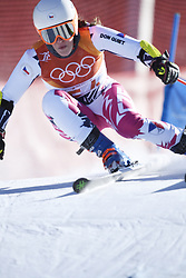 February 15, 2018 - Pyeongchang, South Korea - GABRIELA CAPOVA of Czech Republic on her first run at the Womens Giant Slalom event Thursday, February 15, 2018 at the Yongpyang Alpine Centerl at the Pyeongchang Winter Olympic Games.  Photo by Mark Reis, ZUMA Press/The Gazette (Credit Image: © Mark Reis via ZUMA Wire)