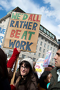 Junior doctors, including accident and emergency, strike throughout the UK against the imposition of new contracts on April 26th 2016 at St Thomas Hospital, London, United Kingdom.