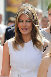 Melania Trump,U.S First Lady during a visit on traditional Basque culture in Espelette, near Biarritz as part of the G7 summit.August 25, 2019. Photo by Thibaud Moritz/ABACAPRESS.COM