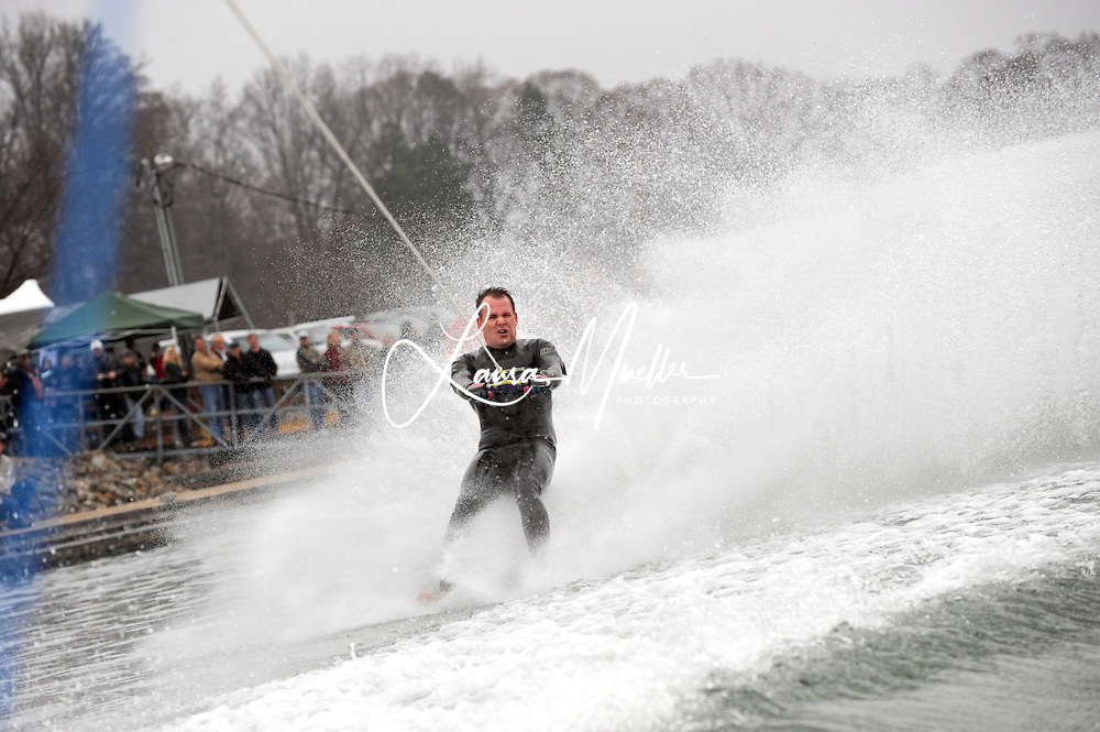 01/01/2011 Sherrills Ford, NC - The 33rd Annual Lake Norman New Years Day Barefoot Challenge began  just after noon Saturday, despite a morning fog that blanketed the lake. The fog obligingly lifted as they took the towboat on a test run, looping by the Lake Norman Marina. photo © Laura Mueller - www.lauramuellerphotography.com