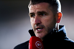 Plymouth Argyle manager Ryan Lowe is interviewed by BT Sport at Half Time - Mandatory by-line: Ryan Hiscott/JMP - 17/12/2019 - FOOTBALL - Home Park - Plymouth, England - Plymouth Argyle v Bristol Rovers - Emirates FA Cup second round replay
