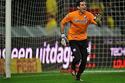22-01-2012 VOETBAL: FC UTRECHT - PSV: UTRECHT<br /> Utrecht speelt gelijk tegen PSV 1-1 / goalkeeper Roberto Fernandez<br /> ©2012-FotoHoogendoorn.nl