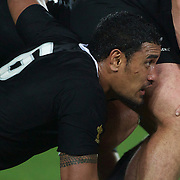 Jerome Kaino, New Zealand,  in action during the New Zealand V France Final at the IRB Rugby World Cup tournament, Eden Park, Auckland, New Zealand. 23rd October 2011. Photo Tim Clayton...