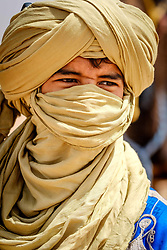 Portrait of a camel herdsman in the Draa Valley, southern Morocco, North Africa<br /> <br /> (c) Andrew Wilson | Edinburgh Elite media