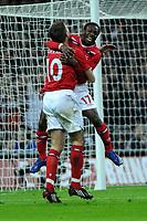 Photo: Tony Oudot/Richard Lane Photography. <br /> England v Switzerland. International Friendly. 06/02/2008. <br /> Shaun Wright Phillips of England celerates his goal with Steven Gerrard