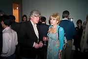 LUCIEN MORGAN; SALLY FARMILOE Craigie Aitchison - private view<br /> Memorial retrospective, Timothy Taylor Gallery, 15 Carlos Place, London 28 March 2012.