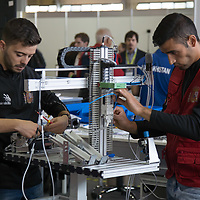 Participants compete in mobile robotics during the EuroSkills European Championship of young professionals in Budapest, Hungary on Sept. 26, 2018. ATTILA VOLGYI