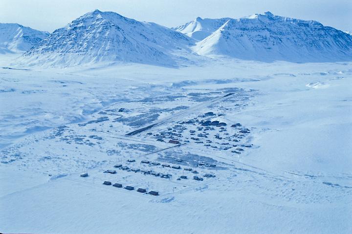 The Inupiat village of Anaktuvuk Pass, Alaska