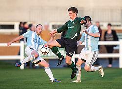 Edinburgh University's Fraser Thomas. <br /> Edinburgh University 2 v 3 Gala Fairydean Rovers, Scottish Sun Lowland League game played 15/11/2014 at Peffermill Playing Fields.