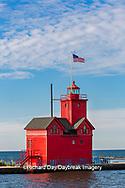 64795-03016 Holland Lighthouse (Big Red) on Lake Michigan Holland, MI