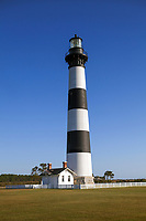 NC00719-00...NORTH CAROLINA - Bodie Island Lighthouse in Cape Hatteras National Seashore on the Outer Banks.