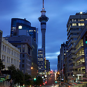 An early evening view  of the City of Auckland and  showing Sky Tower. Auckland, North Island, New Zealand. 25th November 2010. Photo Tim Clayton...
