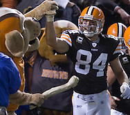 Joe Jurevicius is congratulated after catching a 2-point conversion  Sunday, Nov. 4, 2007 against Seattle in the fourth quarter..