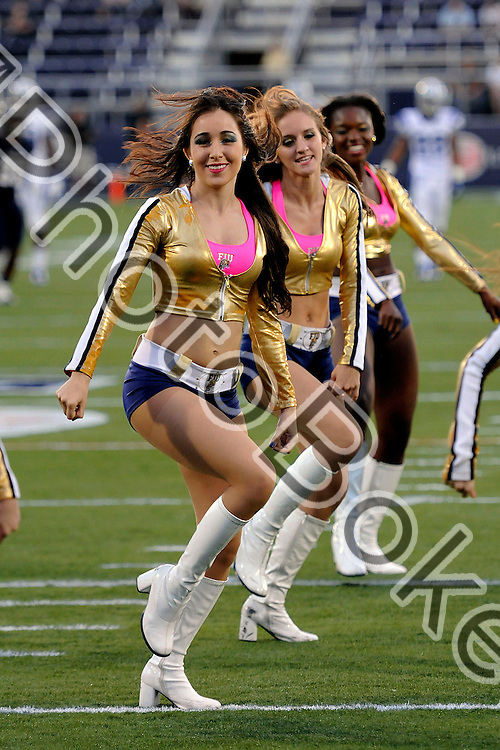 2012 October 13 - FIU Golden Dazzlers..Florida International University football team fell to Middle Tennessee, 30-34, at Alfonso Field, Miami, Florida. (Photo by: www.photobokeh.com / Alex J. Hernandez) This image is copyright PhotoBokeh.com and may not be reproduced or retransmitted without express written consent of PhotoBokeh.com. ©2012 PhotoBokeh.com - All Rights Reserved