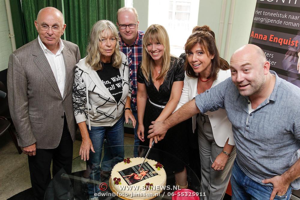 NLD/Amsterdam/20120910 - Perspresentatie toneelstuk Contrapunt, Michael van Praag, Cox Habbema, Nienke Romer, Janke Dekker en Loek Peters