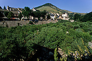 Cevennes. landscape  Pont de Montvert village    France