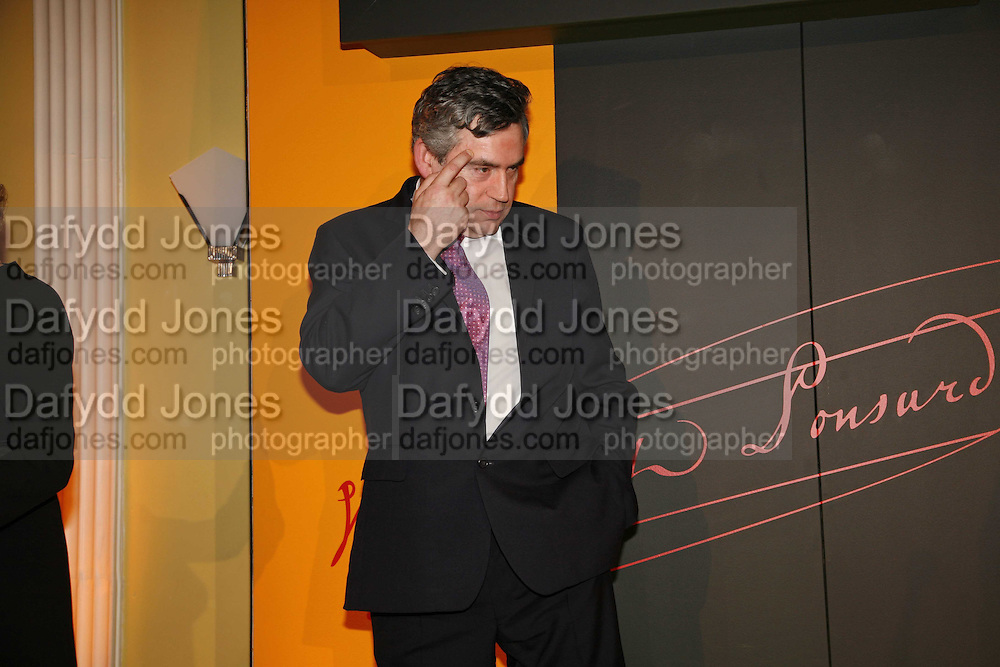Gordon Brown, Veuve Cliquot Award.- Business Woman of the Year. claridge's. London. 27 April 2006. ONE TIME USE ONLY - DO NOT ARCHIVE  © Copyright Photograph by Dafydd Jones 66 Stockwell Park Rd. London SW9 0DA Tel 020 7733 0108 www.dafjones.com
