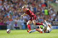 Football - 2019 Womens International Friendly - England Women vs. New Zealand Women<br /> <br /> Englands Keira Walsh skips over the challenge of Betsy Hassett of New Zealand during the final Lionesses warm up fixture at The Amex Stadium Brighton England<br /> <br /> COLORSPORT/SHAUN BOGGUST