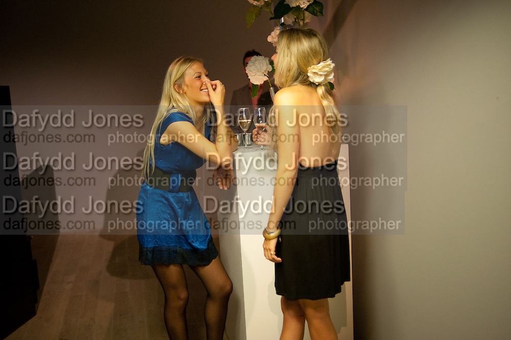JO JO JENKINS; LAURA GERRARD LEIGH, Maggie's autumn fundraiser in aid of the Cancer charity. .  Phillips de Pury & Company, 9 Howick Place, London <br /> www.maggiescentres.org. 27 September 2010. <br /> <br /> -DO NOT ARCHIVE-© Copyright Photograph by Dafydd Jones. 248 Clapham Rd. London SW9 0PZ. Tel 0207 820 0771. www.dafjones.com.