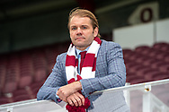 New Heart of Midlothian manager Robbie Neilson during the press conference unveiling new manager / head coach Robbie Neilson for Heart of Midlothian at Tynecastle Park, Edinburgh, Scotland on 6 July 2020.