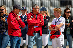 TEBBEL Maurice (GER), BECKER Otto (Bundestrainer Springen), EHNING Marcus (GER)<br /> Rotterdam - Europameisterschaft Dressur, Springen und Para-Dressur 2019<br /> Parcoursbesichtigung<br /> Longines FEI Jumping European Championship - 1st part - speed competition against the clock<br /> 1. Runde Zeitspringen<br /> 21. August 2019<br /> © www.sportfotos-lafrentz.de/Stefan Lafrentz