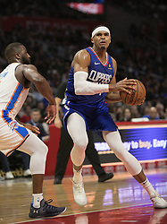 October 19, 2018 - Los Angeles, California, U.S - Tobias Harris #34 of the Los Angeles Clippers during their NBA game with the Oklahoma Thunder on Friday October 19, 2018 at the Staples Center in Los Angeles, California. Clippers defeat Thunder, 108-92. (Credit Image: © Prensa Internacional via ZUMA Wire)