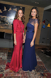 Left to right, LAVINIA BRENNAN and LADY NATASHA RUFUS-ISAACS at the Beulah AW13 Showcase, Bungalow 8 LFW Pop-Up at Belgraves - A Thompson Hotel, 20 Chesham Place, London SW1 on 13th February 2013.
