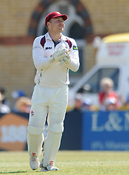 Adam Rossington of Northamptonshire catches out Matt Taylor of Gloucestershire for his career best of 156 - Photo mandatory by-line: Dougie Allward/JMP - Mobile: 07966 386802 - 09/07/2015 - SPORT - Cricket - Cheltenham - Cheltenham College - LV=County Championship 2