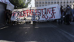 July 21, 2017 - Athens, Greece - A march held to the embassy of Israel in Athens  by the Palestinians living in Greece. (Credit Image: © Ioannis Alexopoulos/Pacific Press via ZUMA Wire)
