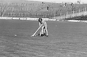 Wexford tackles Cork from behind for possession of the slitor during the All Ireland Senior Camogie Final Cork v Wexford in Croke Park on the 21st September 1975. Wexford 4-3 Cork 1-2.