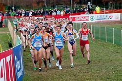11-12-2011 ATLETIEK: EK 18 TH SPAR CROSS COUNTRY: VELENJE<br /> Adrienne Herzog of Netherland, Nadia Ejjafini and Valeria Straneo of Italy during the Senior Women's race during the 18th SPAR European Cross Country Championships Velenje 2011<br /> ©2011-FotoHoogendoorn.nl/Matic Klansek Velej