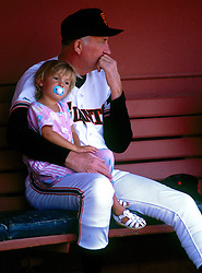 Roger Craig and granddaughter, 1987