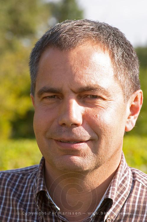 Luc Peyronnet, vineyard manager. Chateau Phelan-Segur, Saint Estephe, Medoc, Bordeaux, France