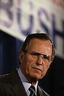 President  HW Bush  (Bush 41), speaking in Illinois in March 1988..Photograph by Dennis Brack bb24