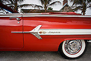 Americana - red Chevrolet Impala convertible automobile in Florida sunshine state, United States of America
